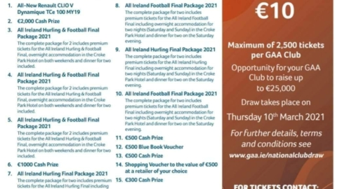 The GAA National Club Draw